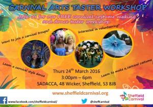 Carnival taster workshop flyer
